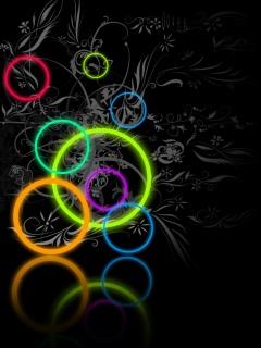 Разноцветные круги на экране вашего смартфона.